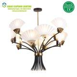 Vidrio o lámpara plegable del hotel de la barra de la lámpara pendiente de los ventiladores del PVC (GD-7435-12)