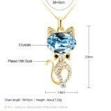 De Oostenrijkse Halsband van het Gouden Plateren van de Tegenhanger van het Kristal Populaire