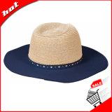 Panamá el papel de gran sombrero de paja de ala mujer