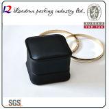 Кожаный коробка подарка упаковки кольца Jewellery коробки хранения ювелирных изделий бархата (Ys309)
