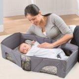 2 In1 sacola de bebê berço portátil, pacote variável dobrável, saco de viagem multifuncional para bebê e cama cama dobrável anti isolante anti mosquito manuseio ombro