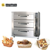 3layer 6 Oven van het Dek van het Brood van de Pizza van de Bakkerij van het Gas van 9 12 15 Dienbladen de Elektrische
