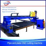 Máquina de estaca de aço da flama do plasma do CNC do pórtico para a placa de metal Kr-Pl