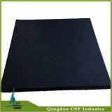 15mm schwarze Gummifußboden-Fliese für Gymnastik