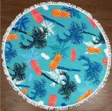 Toalha de praia redonda de microfibra personalizada