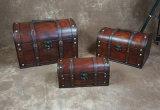 Tres piezas de Pirata Vintage Caja de madera