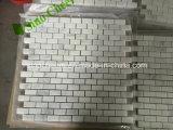 Azulejo de mármol blanco del diamante pulido de la promoción barata china