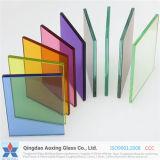 6.38-13.52mm Transparente ou Colorido Vidro laminado de segurança para o prédio de arquitetura