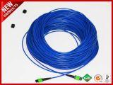 12 coeurs en fibre optique monomode blindé MPO au MPO de câbles de raccordement