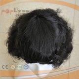 Tipo superior da peruca do estilo ondulado mono peruca 100% amarrada mão da tecnologia da parte alta