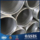 Filtre à huile enveloppé par fil de pipe d'écran de l'acier inoxydable 304 d'OD 273mm
