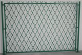 アコーディオン式かみそりのとげがある網の塀のネット