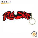 Anel de chave de PVC macio personalizado para publicidade Ym1118