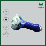 Starke Punkt-Seeblaue Farben-Glasrohr-Großverkauf Glassbong Recycler-Glaswasser-Rohr