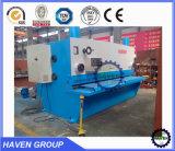 Blech und Platte CNC-hydraulische Guillotinescher- und -ausschnittmaschine