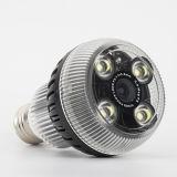 Bulbo elegante de la cámara LED de HD WiFi vía vigilancia del monitor del APP
