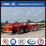 Boggie Suspensionの40FT 2axle Flatbed Semi Trailer