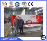 Guillotina hidráulica del CNC del metal y de la placa de hoja que pela y cortadora