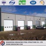 Stahlkonstruktion-Aufbau für Lager mit Stahlgarage