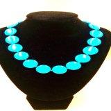 A bolacha do azul de turquesa de Stablized perla a colar