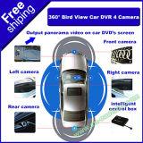 360 de Auto DVR van de graad met het Parkeren van de Controle van de Mening van de Vogel van 4 Camera's staat de Mening van het Panorama bij het Vrije Verschepen van de Auto DVD S-P210 bij