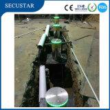 Sistema hidráulico dos postes de amarração da fonte com iluminação do diodo emissor de luz