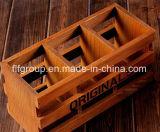주문을 받아서 만들어진 고아한 디자인 휴대용 절묘한 나무로 되는 저장 상자 포장 상자