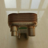 공기조화 냉각하는 콘덴서 또는 증발기 산업 구리에 의하여 놋쇠로 만들어지는 격판덮개 열교환기
