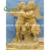 Escultura de pedra natural da pedra do anjo para jardim e fonte
