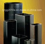 Квадратные и прямоугольные стальные трубы черного цвета