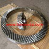 Engranajes cónicos del espiral Drilling de la forja