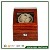 Sólido alta calidad de madera de revestimiento Watch Winder en Venta