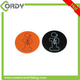 O símbolo de RFID etiqueta o Tag epoxy de NFC com uma corda