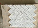 """白い1X3 """" WallのためのヘリンボンMosaic Tile"""