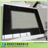 Forma plana de 5 mm de vidro temperado resistente ao calor para porta do forno