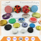 Mouth large Mason Jar Lid avec Color Printing