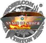 Peste Brocade Crown 130 tiros de fogos de artifício de bolo de formato do Ventilador