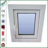 Finestra di vetratura doppia della stoffa per tendine della finestra di profilo di apertura UPVC dell'oscillazione