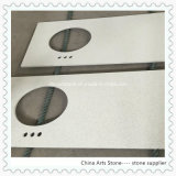 Bianco cinese/quarzo nero grigio con il chip dello specchio per le parti superiori di vanità