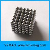 Esfera magnética do Neodymium 216 de prata quente da venda 3mm 5mm