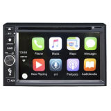 Coche reproductor de DVD con Carplay para iPhone, iPod 2 DIN/6.2 TFT pantalla táctil/DVD/Bluetooth