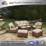 Disposizione dei posti a sedere profonda buona del vimine 7pc di Furnir WF-17078