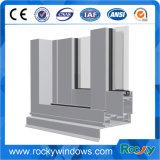 Perfis de alumínio anodizados preto e branco rochosos para portas e Windows