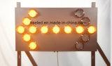 El tráfico flecha intermitente LED de señal para la Seguridad Vial