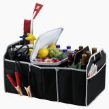 Organizador de tronco de carro com Cooler Auto Insulated Caddy Boot Organizer