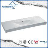Dispersore di lavaggio della doppia della ciotola della stanza da bagno del Governo mano di ceramica rettangolare del bacino (ACB4612D)