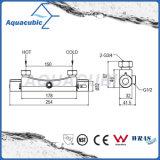 El latón de la ducha del cuarto de baño cromado Anti-Escalda el golpecito termostático (AF4156-7)