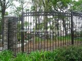 Het hete Huis van de Verkoop en de Omheining van het Ijzer van de Veiligheid van de Tuin