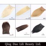 Prix de bonne qualité de la pente 8A Factoy 200 grammes d'Ombre de clip de couleur dans l'être humain de prolonge de cheveu