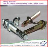 Expansion de plaque de zinc/boulon d'anchrage de cale avec la noix
